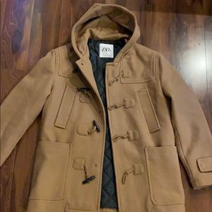 Men's Zara Camel Trench with Hood Large